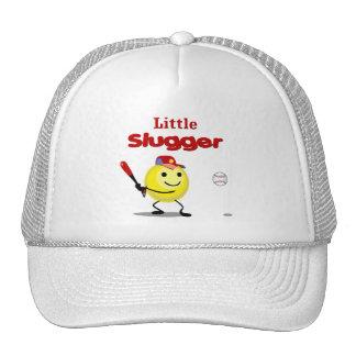 Pequeño smiley del béisbol del bateador gorro
