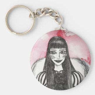 pequeño sofie gótico del chica llavero redondo tipo pin