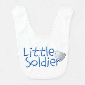 Pequeño soldado babero para bebé