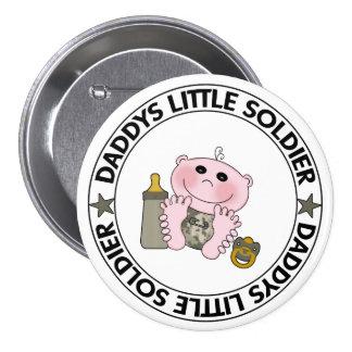 Pequeño soldado de Daddys bebé Pins