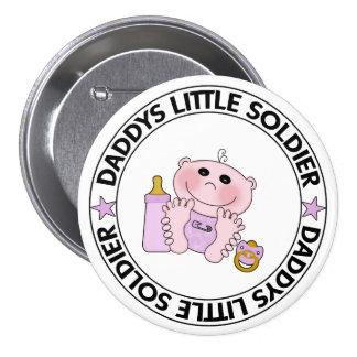Pequeño soldado de Daddys niña Pins