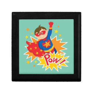 Pequeño super héroe caja de joyas