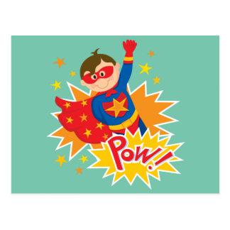 Pequeño super héroe postales