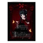 Pequeño tarjeta gótica del feliz cumpleaños del di