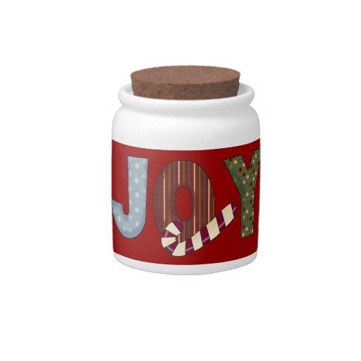 Pequeño tarro del caramelo del navidad platos para caramelos