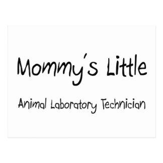 Pequeño técnico del laboratorio animal de la mamá tarjeta postal