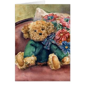 """Pequeño teddy. lindo """"bonito"""" que se sienta tarjetón"""