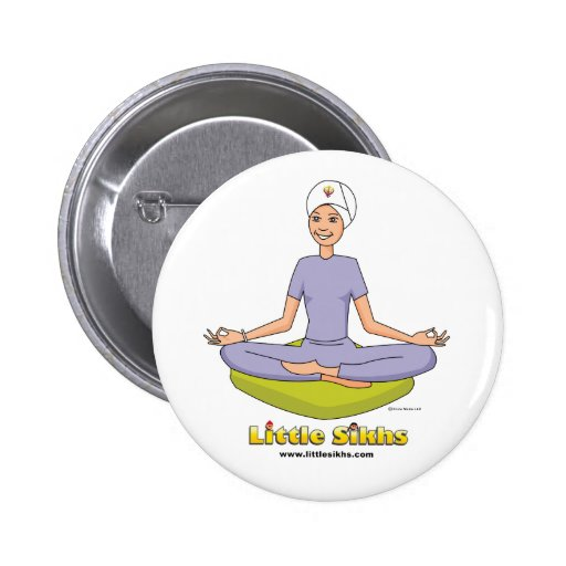 Pequeño tema de la yoga de los sikhs pins