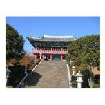 Pequeño templo sobre las escaleras, Jeju Postal