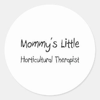 Pequeño terapeuta hortícola de Mommys Etiquetas Redondas