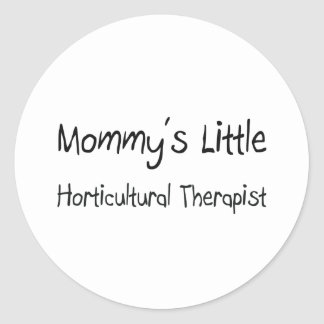 Pequeño terapeuta hortícola de Mommys Etiqueta Redonda
