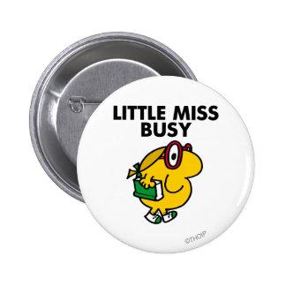 Pequeño tiempo de lectura de Srta. Busy el | Pin Redondo De 2 Pulgadas