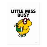 Pequeño tiempo de lectura de Srta. Busy el   Tarjeta Postal