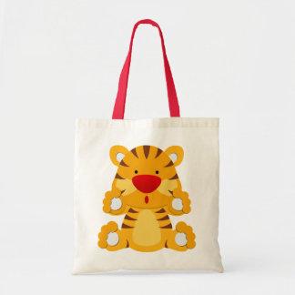 Pequeño tigre bolsa tela barata