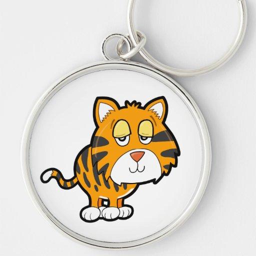 Pequeño tigre Cub soñoliento Llaveros Personalizados
