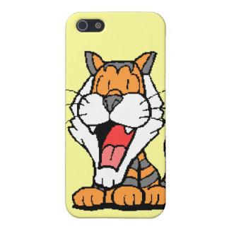 Pequeño tigre dulce iPhone 5 fundas