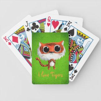 Pequeño tigre lindo baraja cartas de poker