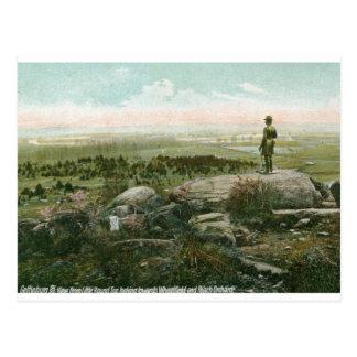Pequeño top redondo, vintage del campo de batalla  tarjeta postal