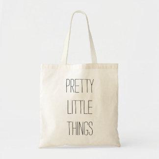 Pequeño tote bonito de las cosas bolsa tela barata