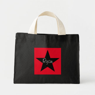 Pequeño tote personalizado de la estrella bolsa tela pequeña