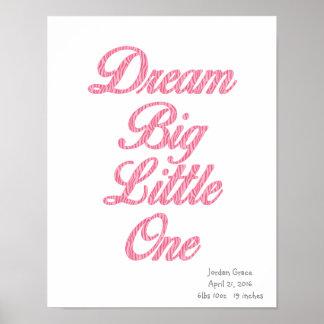 Pequeño un poster rosado grande ideal del arte de