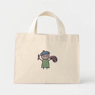 Pequeño un tote minúsculo del artista bolsas