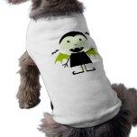 Pequeño vampiro camisa de perro