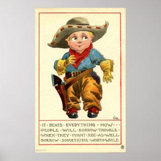 Pequeño vaquero póster