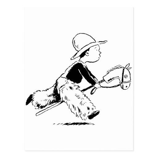 Pequeño vaquero tarjeta postal