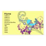 pequeño vector azul precioso del pájaro plantillas de tarjetas personales
