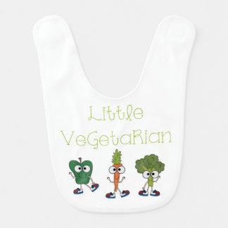 Pequeño vegetariano babero de bebé