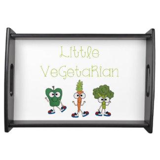 Pequeño vegetariano bandejas
