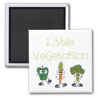 Pequeño vegetariano imán de frigorífico