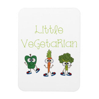 Pequeño vegetariano iman rectangular