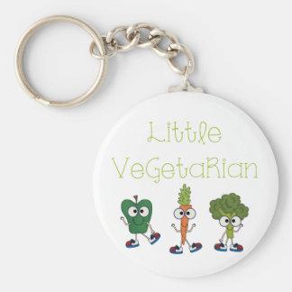 Pequeño vegetariano llaveros personalizados