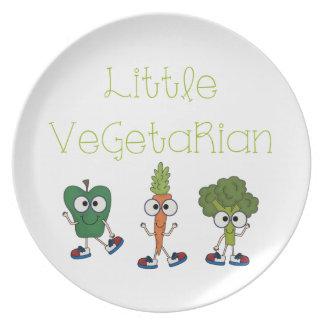 Pequeño vegetariano platos de comidas