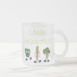 Pequeño vegetariano taza de cristal