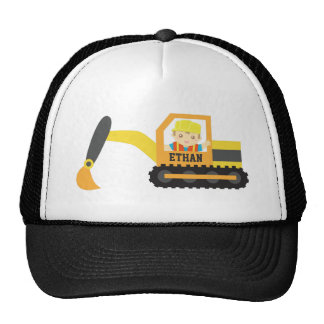 Pequeño vehículo lindo de la construcción del exca gorras