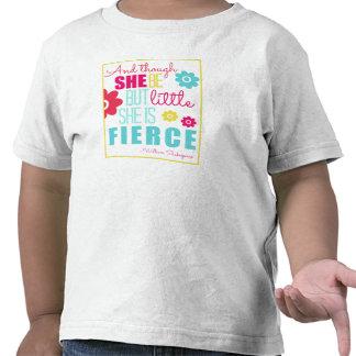 Pequeño y feroz - brillante y colorido camisetas