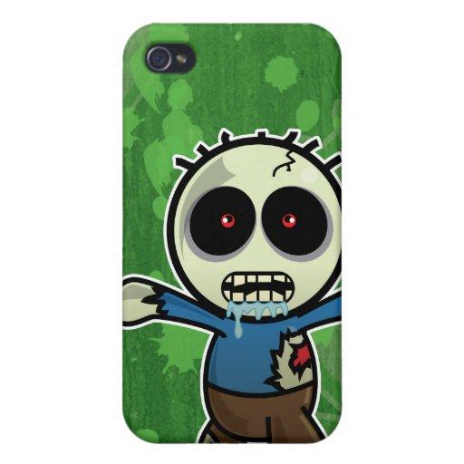 Pequeño zombi lindo del dibujo animado iPhone 4/4S fundas