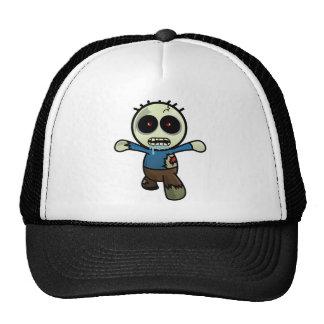 Pequeño zombi lindo del dibujo animado gorras de camionero