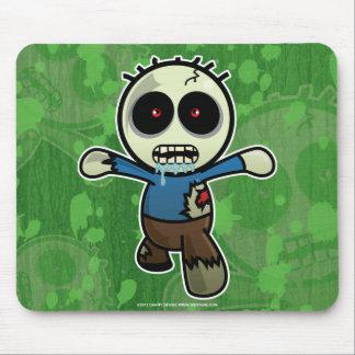 Pequeño zombi lindo del dibujo animado mousepads