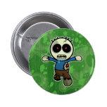 Pequeño zombi lindo del dibujo animado pins