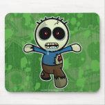 Pequeño zombi lindo del dibujo animado alfombrilla de ratones