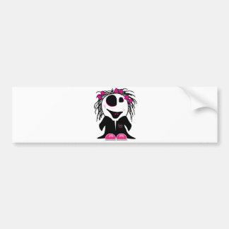 pequeño zombi lindo femenino pegatina de parachoque