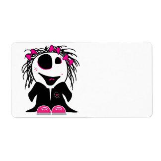 pequeño zombi lindo femenino etiquetas de envío