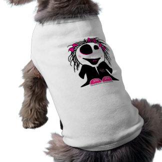 pequeño zombi lindo femenino playera sin mangas para perro