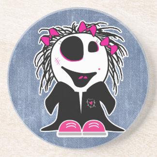 pequeño zombi lindo femenino posavasos personalizados