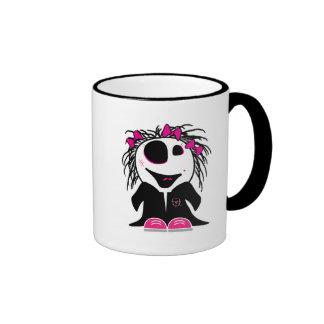 pequeño zombi lindo femenino taza