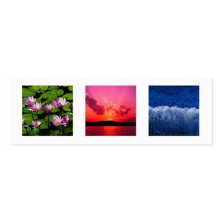 Pequeños 3 adicionales foto o moda moderna gris tarjetas de visita mini